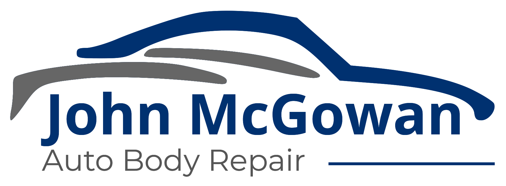 The John McGowan Auto Body Repair Logo