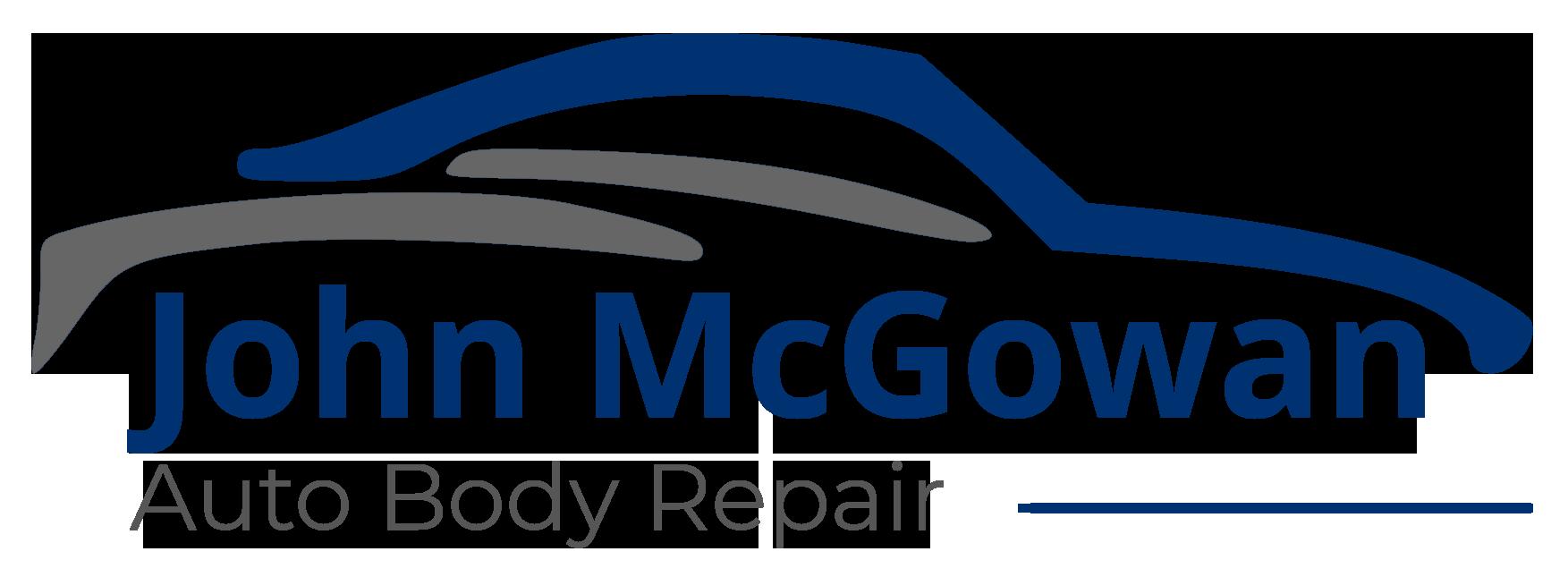The John McGowan Auto Body Repair Logo